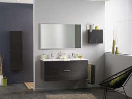 Salle de bains LUXY gris: Salle de bain de style de style Moderne par PARISOT