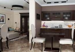 Кухня - Гостиная в стиле Ар деко с современными элементами: Гостиная в . Автор – Павел Белый и дизайнеры