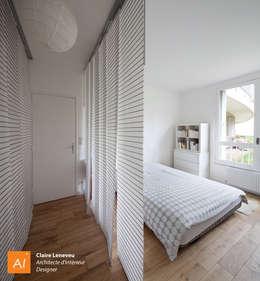 Chambre avec vue sur jardin: Chambre de style de style Moderne par Claire Leneveu