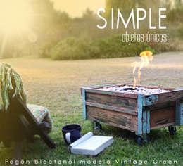 Fogón a bioetanol: Arte de estilo  por Simple Objetos Unicos