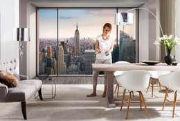 Paredes y pisos de estilo moderno por Fotomurales