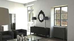 Rénovation d'un appartement à Biarritz: Salon de style de style Moderne par GAEL DEVINCK AGENCE FSA