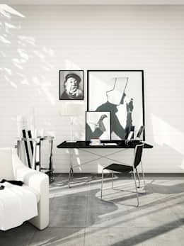 Salon de style de style Moderne par DesigniTures