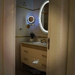 Gizem Kesten Architecture / Mimarlik – NAZARİ FAMİLY HOUSE/İSTANBUL/TURKEY: modern tarz Banyo