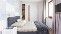 moderne Slaapkamer door Pracownie Wnętrz Kodo