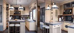 Проект в стиле RH: Кухни в . Автор – M-project