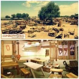 Madera Reutilizada: Oficinas y tiendas de estilo  por Lumberworks