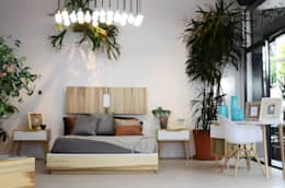 Спальная комната  в . Автор – Clorofilia