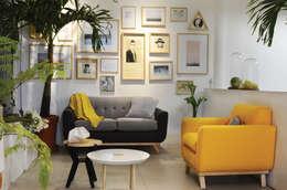 Salas de estar modernas por Clorofilia