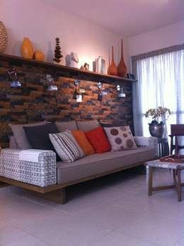 Salas / recibidores de estilo moderno por Nataly Aguiar Arq e Interiores