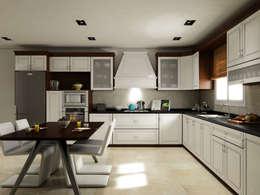 SK ARCHITECTURAL VISUALIZATION – MUTFAK (KITCHEN): modern tarz Mutfak