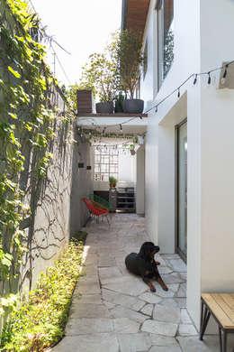 Residencia da Esquina: Jardins tropicais por SALA2 arquitetura e design