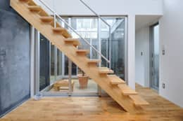 modern Living room by 岡村泰之建築設計事務所