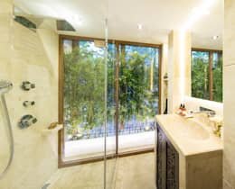 AK Design Studio – Stone Age- Baltalimanı Mansion: modern tarz Banyo