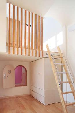 小扉の使い方: 守山登建築研究所が手掛けた子供部屋です。