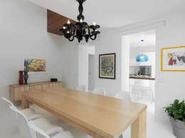 minimalistische Eetkamer door STUDIO DI ARCHITETTURA LUISELLA PREMOLI