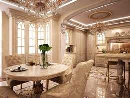 Роскошь классических интерьеров: Столовые комнаты в . Автор – Ksana Shkinch Architects
