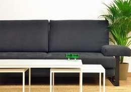 Cube Deco: endüstriyel tarz tarz Oturma Odası