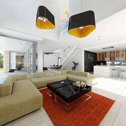 Dom modny: styl , w kategorii Salon zaprojektowany przez doomo