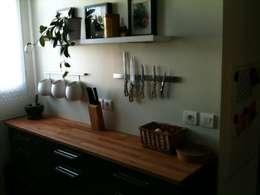particulier : Salon  Salle à manger, cuisine , SalonTV: Cuisine de style de style Moderne par Sylvie Leblanc