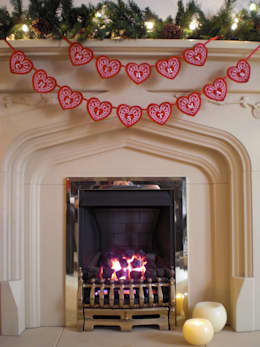 Embroidered Merry Christmas Banner:  Household by Kate Sproston Design