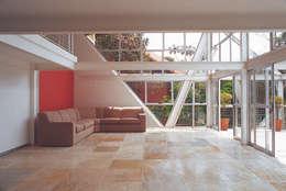 Casa Serrana por Joao Diniz Arquitetura: Salas de estar modernas por JOAO DINIZ ARQUITETURA