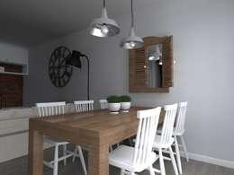 mieszkanie  industrialne w Iławie 2: styl , w kategorii Jadalnia zaprojektowany przez ap. studio architektoniczne Aurelia Palczewska-Dreszler