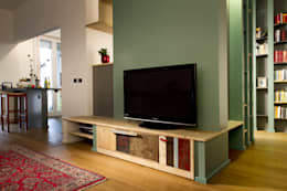 Salas / recibidores de estilo ecléctico por Laquercia21
