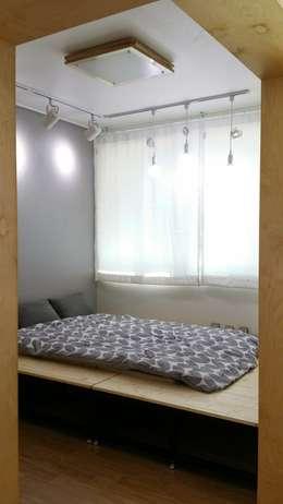 해밀건축사사무소: minimal tarz tarz Yatak Odası