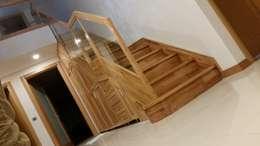 Yıldız  Ahşap merdiven ve küpeşte – düz dolaplı merdiven:  tarz İç Dekorasyon