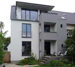 gartenfassade nach umbau + rückbau:   von beissel schmidt architekten