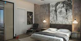 Çağrı Aytaş İç Mimarlık İnşaat – UYSAL RESIDENCE: modern tarz Yatak Odası