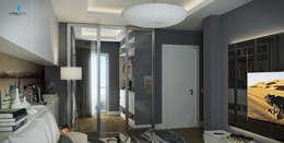 Çağrı Aytaş İç Mimarlık İnşaat – UYSAL RESIDENCE: modern tarz Giyinme Odası