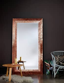 GROOVE COPPER: klasieke Woonkamer door Deknudt Mirrors