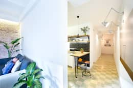 Pasillos y recibidores de estilo  por Egue y Seta