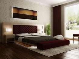 levent tekin iç mimarlık – RÖNESANS KONUTLARI: modern tarz Yatak Odası