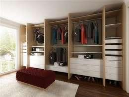 levent tekin iç mimarlık – RÖNESANS KONUTLARI: modern tarz Giyinme Odası