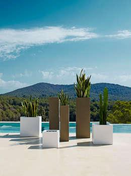 Jardines de estilo minimalista por Maceteros.es