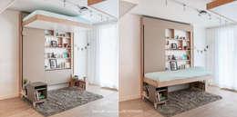 Dormitorios de estilo ecléctico por DECADRAGES