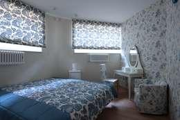 юрта в подмосковье: Спальни в . Автор – Архитектурное бюро и дизайн студия 'Линия 8'