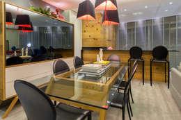 Projeto 17 - Residência clean: Salas de jantar modernas por GREISSE PANAZZOLO ARQUITETURA