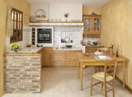 rustic Kitchen by MUEBLES RABANAL SL