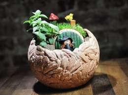 MyHobbyMarket & Peri Bahçem – Hobbit Evi Minyatür Bahçe:  tarz Ev İçi