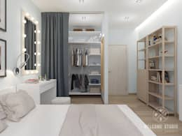 minimalistic Bedroom by Мастерская дизайна Welcome Studio