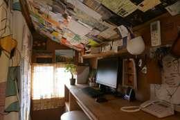 Oficinas de estilo  por ムラカミマサヒコ一級建築士事務所