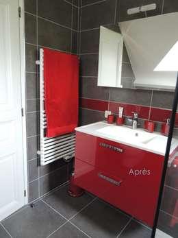 L'espace lavabo après : Salle de bain de style de style Moderne par L'Autrement Déco