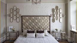 Частный интерьер: Спальная комната  в . Автор – Архитектурное бюро 'Золотые головы'