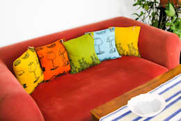 Chouchette – Cushions illustrated exclusively for Chouchette by artists Gabriela Vainsencher and Cristobal Dam :  tarz Ev İçi