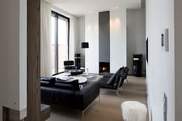 Projekty,  Salon zaprojektowane przez GUILLAUME DA SILVA ARCHITECTURE INTERIEURE