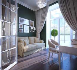 Projekty,  Domowe biuro i gabinet zaprojektowane przez Natalia Solo Design